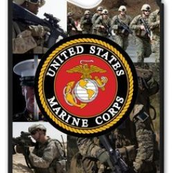 Lilichen Forever Collectible Usmc Marine Corps Case Cover For Htc One M7 (Laser Technology) -- Desgin By Lilichen
