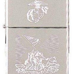 Marine Wwii Commemorative Zippo Lighter (Empty)