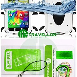 Travellor(Tm) New Metal Samsung Galaxy S5 I9600 Shockproof Dirtproof Scratchproof Protection Case Cover For Galaxy S5 I9600 Gifts Outdoor Carabiner + Professional Lens Wipes+Screen Dedusting Chain(Travellor Brand)Multiple Color (Metal White)