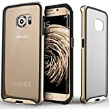 Galaxy S6 Edge case, Caseology® [Dual Bumper Clear back] [Gold] DIY Customization Fusion Hybrid Cover [Shock Absorbent] Samsung Galaxy S6 Edge case