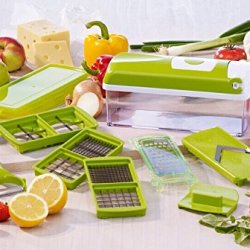 Vipstore® New Creative Multi-Function Dicer Chopper Shredder Vegetable Cutting Dicing Slicing Kitchen Tools 12 Pieces