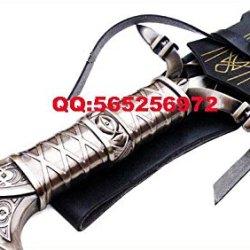 "S4808 Anathros Sword Of The Earth Warrior Aluen Knife W/ Black Leather Sheath 27"""