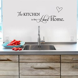 Top-Me Christmas Sale Kitchen Is The Heart Of The Home, Kitchen Wall Decal, Kitchen Sticker, Wall Decor, Kitchen Sayings - Tm8305