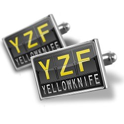 Sterling Silver Cufflinks Yzf Airport Code For Yellowknife - Neonblond