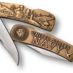 Navy Lockback Knife - Small Bronze Antique