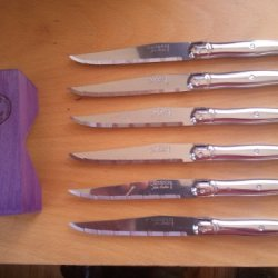 Jean Dubost Laguiole Stainless Steel Steak Knives Set Of 6