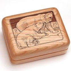 "3X4"" Box With Money Clip/Pocket Knife - Polar Bears"