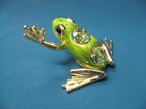 スワロフスキー オーナメント かえる置物(カエル・フロッグ・蛙)トノサマガエル1439