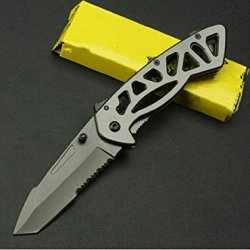 Skeleton Serrated Tactical Survival Rescue Camping Pocket Kinfe Bk870-7.67''