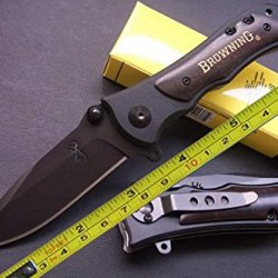 New Browning Ebony Wood Folding Pocket Knife
