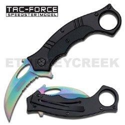 Tf-626Rb Rainbow Karambit Spring Assist Knife - Z3Jusmarf7 Aluminum Handle W/ G-10 Ajuiioptr 4567Fffg 567Ybghjk Karambit Spring Assist Knife, Aluminum Handle With G-10 Insert, Over A Steel Frame.The Bbiwl7Hpgz Rainbow Serrated Stainless Steel Blade Opens