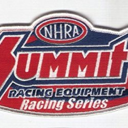 "New 6 1/2"" X 3"" Summit Racing / National Hot Rod Association Embroidered Patch"