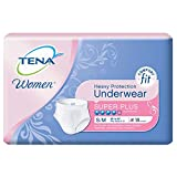 TENA for Women Heavy  Super Plus Absorbency Protection Underwear, Small/Medium, 18 Count