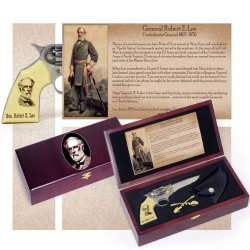 General Robert E. Lee Pistol Gun Knife Kepi Pin Collectors Set