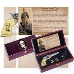 Gen. General Robert Lee Photo Civil War Era Pistol Gun Knife Kepi Sabers Pin Set