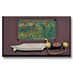 American Civil War Commemorative Bowie With Display Plaque