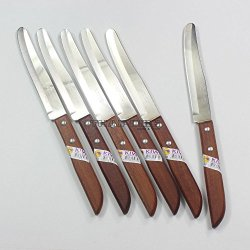Thai Kitchen Steak Knives Stainless Steel Knives Kiwi 502 6 Pcs Per Set