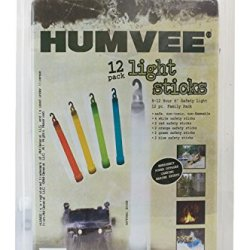 Humvee Hmv-6-Fp12 6-Inch Weatherproof 12-Piece Light Stick Set With 8-12-Hour Glow Time, Assorted Colors