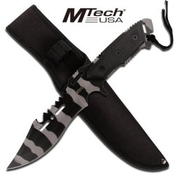 "Mtech ""Piranha"" Combat Knife- Urban Camo"