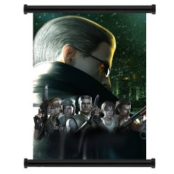 """Resident Evil Game Fabric Wall Scroll Poster (31"""" X 43"""") Inches"""