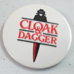 Vintage Movie Button Cloak And Dagger