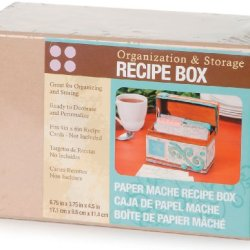 "Paper Mache Recipe Box 6.75""X3.75""X4.5"" Darice 2874-40"