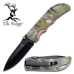 "Elk Ridge 3.5"" Tactical Folder- Pink/Camo"