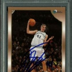 Dirk Nowitzki Authentic Signed Card 1998 Topps Rc #154 Auto Graded Gem Mint 10! Psa/Dna Slabbed