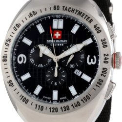 Swiss Military Calibre Men'S 06-4C2-04-007T Commando Tachymeter Chronograph Luminous Date Black Dial Watch