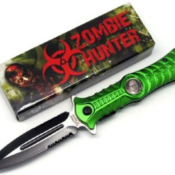 "Zombie Hunter ""Haunt"" A0 Tactical Folding Knife - Green"
