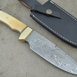 "Christmas Gift By Leather-N-Dagger | Professional High Quality Custom Handmade Damascus Steel Model-Year 2015 Bowie 11"" Hunting Knife (100% Satisfaction Guaranteed) Great Gift Ld195"