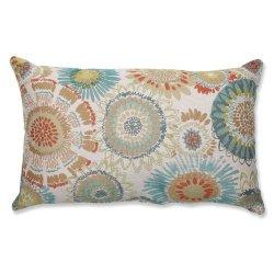 Pillow Perfect Maggie Mae Aqua Rectangular Throw Pillow, Multicolored
