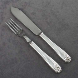 Daffodil By 1847 Rogers, Silverplate Fish Fork & Fish Knife
