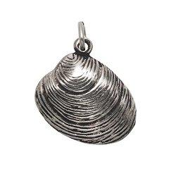 Sterling Silver Quahog Shell Pendant