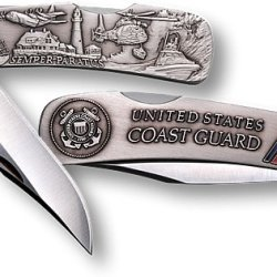 Coast Guard Lockback Knife - Small Nickel Antique