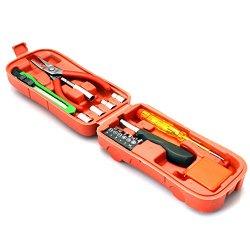 Wocharger(Tm) 16 In 1 Hand Tool Home Hardware Kit Multifunction Tool Kit Homeowner'S Tool Kit Compact Screwdriver And Socket Precision Tools Mechanics Tool Kit (Pliers,Screwdriver,Tweezers,Ruler,Knife,Electric Pen) (16 In 1 Homeowner'S Tool Kit)