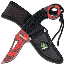 Z Hunter Zb-041Rd Fixed Blade Knife, 8.5-Inch