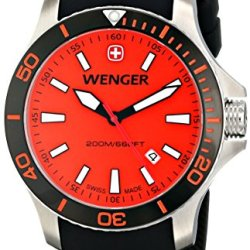 Wenger Men'S 01.0641.111 Sea Force 3H Analog Display Swiss Quartz Black Watch