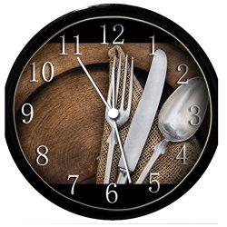 Glow In The Dark Wall Clock - Spoon, Knife & Fork