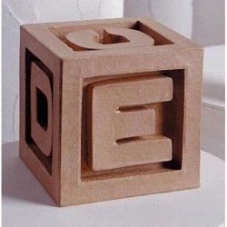 Bulk Buy: Darice Diy Crafts Paper Mache Abc Blocks 5 X 5 Inches (6-Pack) 2821-37