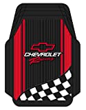 40% OFF Plastcolor 1350R01 Chevy Racing with Flag Trim-To-Fit Molded Front Floor Mats