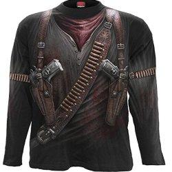 Spiral - Mens - Holster Wrap - Allover Longsleeve T-Shirt Black - Xxl