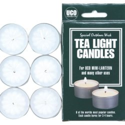 Uco Tealight Candles For Lanterns And General Use (Pack Of 6)