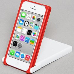 Trick Cover For Iphone 5 / 5S (Red X White) Plastic Case Cover Nunchaku Butterfly Knife Action