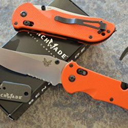 Benchmade 915S-Org Triage Rescue Knife W/ Seatbelt Cutter / Glass Breaker Tip And A Free Benchmade Mini Sharpener