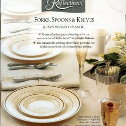 "Reflections ""Looks Like Silver"" Plastic Silverware 120-Piece Set: 40 Plastic Forks, 40 Spoons, 40 Knives"