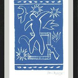 "Henri Matisse Original Hand-Signed Limited Edition Linocut Print With Coa, ""Joyful Man"" (Unframed)"