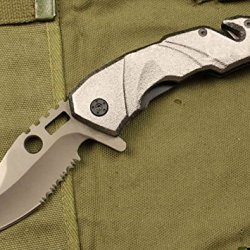 Silver Spring Speed Assisted Open Swtooth Rescue Pocket Folding Knife 8.85''