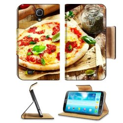 Pizza Dish Food Spices Tomatoes Cheese Dough Knife Fork Samsung Galaxy Mega 6.3 I9200 Flip Case Stand Magnetic Cover Open Ports Customized Made To Order Support Ready Premium Deluxe Pu Leather 7 1/16 Inch (171Mm) X 3 15/16 Inch (95Mm) X 9/16 Inch (14Mm) L