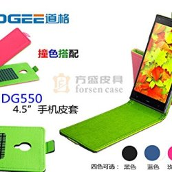 Everyday Better Life Faux Leather Up And Down Flip Cover Case For Doogee Dagger Dg550 Smartphone (Black)